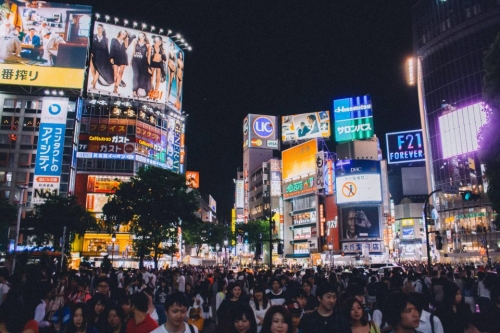 A busy City in Japan