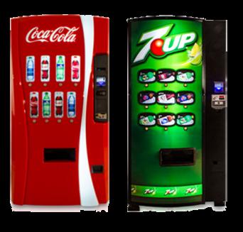 Cold beverage vending machines